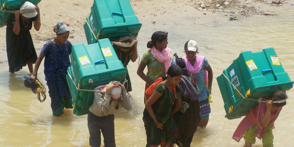 ShelterBoxes being delivered in Nepal